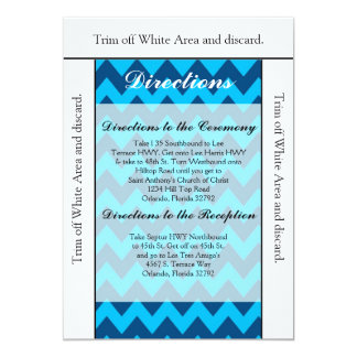 3.5x6 Directions Card Chevron Blues