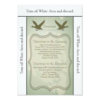 3.5x6 Directions Card Duck Hunting Rustic Invitation