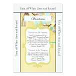 3.5x6 Directions Card Floral Bird Cage Custom Invitations