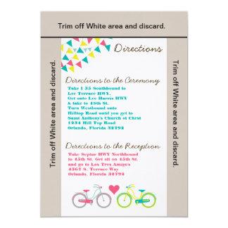 3.5x6 Directions Card Lovers Bike Bicyc