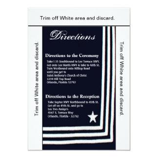 3.5x6 Directions Card Navy Summer Dress Blues Uni