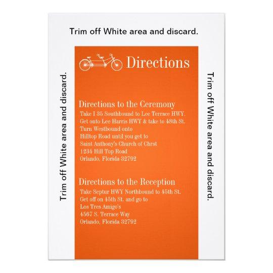 3.5x6 Directions Card Orang Double Bike