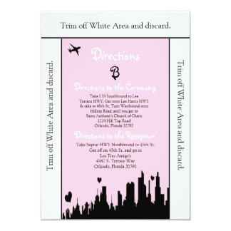 3.5x6 Directions Card Pink City Line