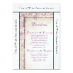 3.5x6 Directions Card Purple Spring Floral Invitation