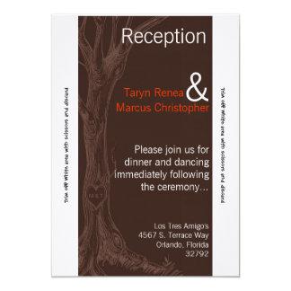 3.5x7 Reception Card Fall Tree Initial