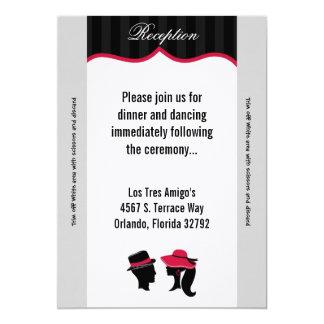 "3.5x7 Reception Card Formal Hats Elegan 5"" X 7"" Invitation Card"