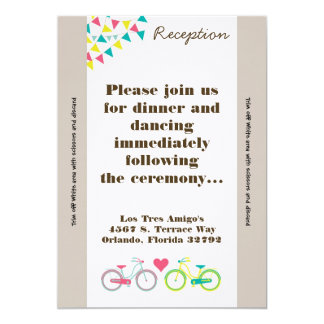 3.5x7 Reception Card Lovers Bike Bicycl