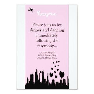 3.5x7 Reception Card Pink City Line