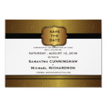 "3.5x 5"" Golden Elegant Modern  Save The Date Card 3.5"" X 5"" Invitation Card"