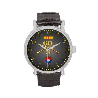 3/60o Inf. Cinta de los rifles y reloj cruzados de