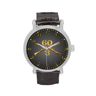 3/60o Inf. Reloj cruzado latón de los rifles