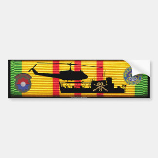 3/60th Inf ATC(H) & UH1 on VSM Ribbon Bumper Sticker