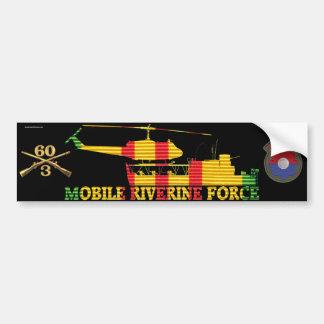 3/60th Inf. MRF ATC(H), Patch & Rifles Sticker Car Bumper Sticker