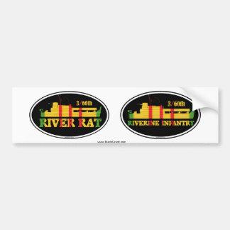 3/60th Riverine Infantry Euro-Sticker Pair Bumper Sticker