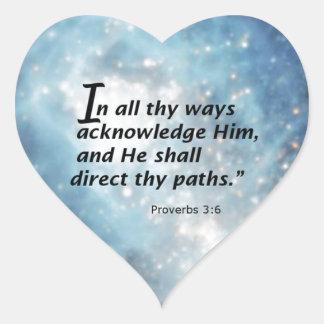 3:6 de los proverbios calcomania corazon