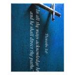 3:6 de los proverbios plantilla de membrete