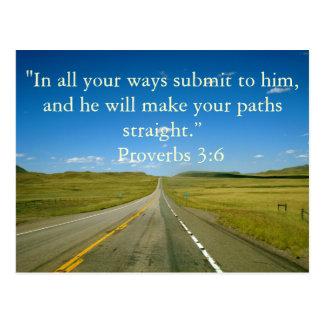 3:6 de los proverbios postales