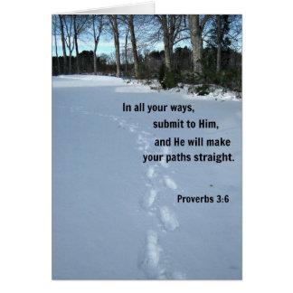 3:6 de los proverbios tarjeta de felicitación