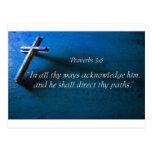 3:6 de los proverbios tarjetas postales