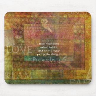 3:6 de los proverbios: Verso inspirado de la bibli Alfombrillas De Raton