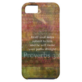 3:6 de los proverbios: Verso inspirado de la bibli iPhone 5 Case-Mate Coberturas