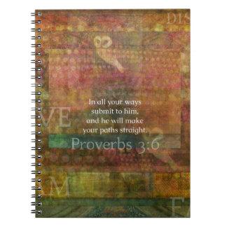 3:6 de los proverbios: Verso inspirado de la bibli Libro De Apuntes