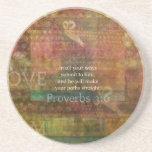 3:6 de los proverbios: Verso inspirado de la bibli Posavasos Diseño