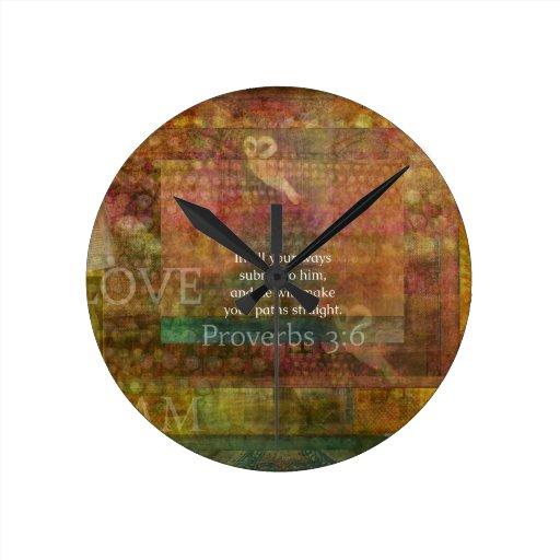 3:6 de los proverbios: Verso inspirado de la bibli Reloj