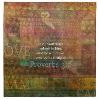 3:6 de los proverbios: Verso inspirado de la bibli Servilletas