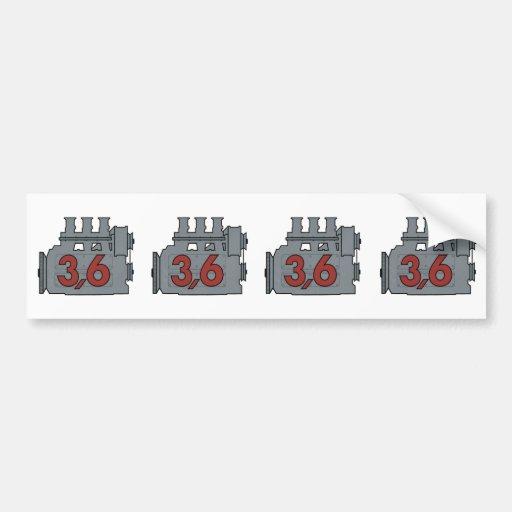 3,6 engine decal bumper sticker
