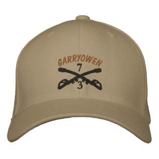 3-7th Cavalry Crossed Sabers OIF Ribbon Custom Hat Embroidered Baseball Caps