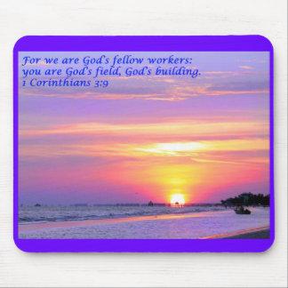 3:9 de los Corinthians del verso 1 de la biblia Mouse Pad