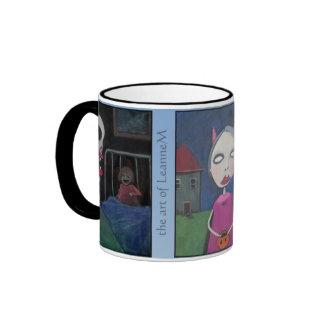 3 Acrylics by LeanneM Ringer Mug