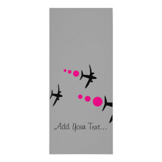 3 Aircrafts 4x9.25 Paper Invitation Card