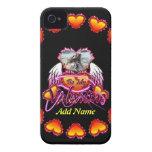 3 alas del ángel de los corazones sean mi muestra  Case-Mate iPhone 4 cárcasa