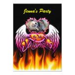 3 alas del ángel de los corazones sean mi muestra invitación 12,7 x 17,8 cm