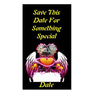 3 alas del ángel de los corazones y triturador de tarjetas de visita
