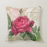 "(3) almohada color de rosa 20"" x 20"" cojín decorativo"