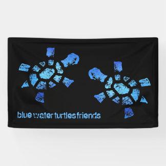 3' amigos de x5 de las tortugas del agua azul lona