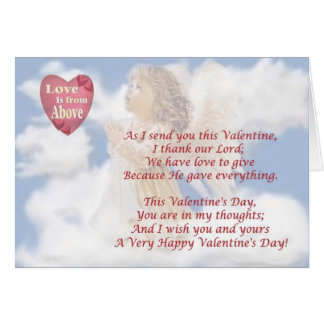 3. Angelic Love Is From Above Religious Valentine Stationery Note Card