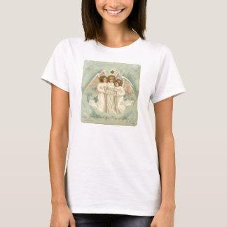 3 Angels Ladies Christian Holiday T-Shirt
