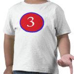 ¡3 años! camiseta