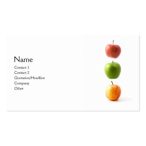 3 apples business card templates zazzle