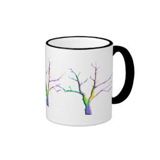 3 árboles desnudos tazas de café