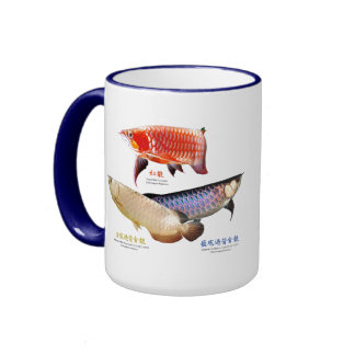 3 Asian Arowanas Ringer Mug