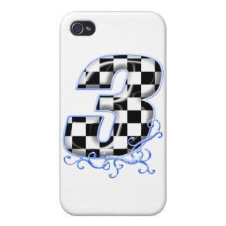 3 auto racing number iPhone 4 case