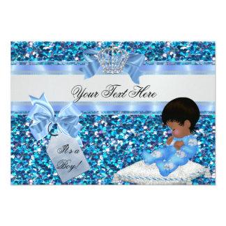 3 Baby Shower Boy Blue Little Prince Bunnies Custom Invitations
