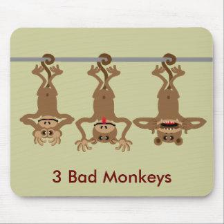 3 bad monkeys mousepads