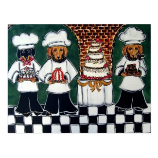 3 Bakers Doxie Postcard