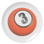 3 Ball Dinner Plate